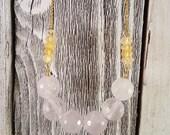 Amethyst & Citrine Gemstone Necklace OOAK