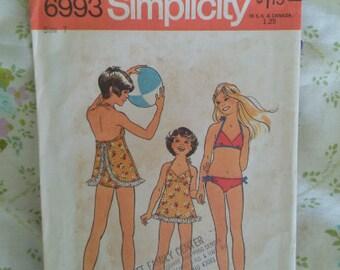 Vintage 1975 Girls Swim Suit Pattern