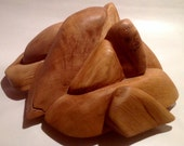 Wooden 3D Rock Decoration - Natural and Handmade