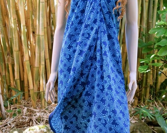 Blue Sarong, Pareo, Wrap, Cover up E