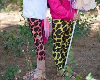 Baby Leggings-Girl Legging-Print Leggings-Animal Print Leggings-Elastic Leggings-Modern Baby Leggings-Girl Leggings-Toddler Girl Pants