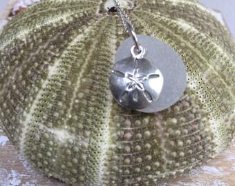 white frosted Maine Atlantic sea glass necklace, mermaids tears necklace, Maine Sea glass necklace, Beachcombers gift, Atlantic Sea glass