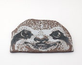 "Ceramic Sloth Wall Hanging - Porcelain Sgraffito Sloth Wall Art - Ceramic Sloth Wall Tile - Fine Art Sloth Home or Office Decor - ""Sven"""