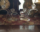 Crystal Double Candle Holders, Baccarat, France