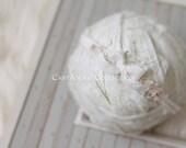 Newborn Headband - Newborn Photo Prop: Newborn Tieback, Newborn Flower Crown, Halo, Organic Photography Props, Stretch Jersey Headband