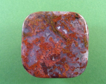 Hungarian moss agate cabochon