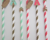 Boho Chic ~ Tribal ~ Straws & Toppers ~ Teepees ~ Feathers ~ Arrows ~ Cake Pop Sticks