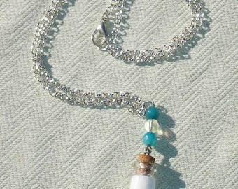 Mini Spell Bottle Necklace with Blessed Salts