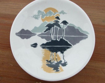 Butterpat Miniature Plate by Castle Wynd Studios, Highland Bone China, Scotland