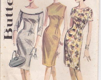 1960's Sewing Pattern - Butterick 2137 Dress Size 12 Bust 32 Inches Uncut, Factory Folded.