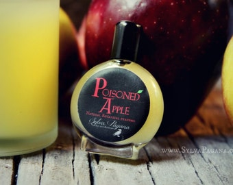 Natural perfume organic - apple fruity sweet - POISONED APPLE - Snow White perfume - you choose size
