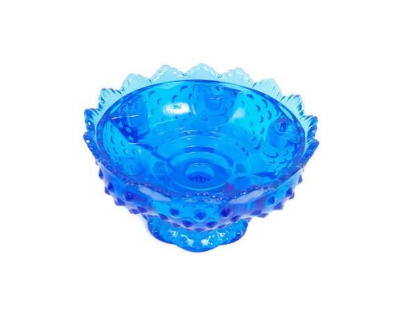 Vintage fenton candle holder cobalt blue by levintagegalleria