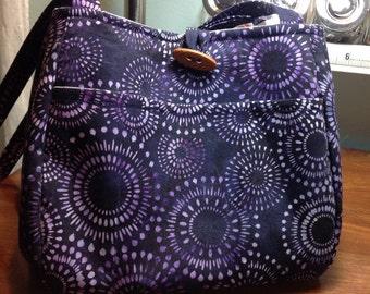 Purple Bucket Bag Batik