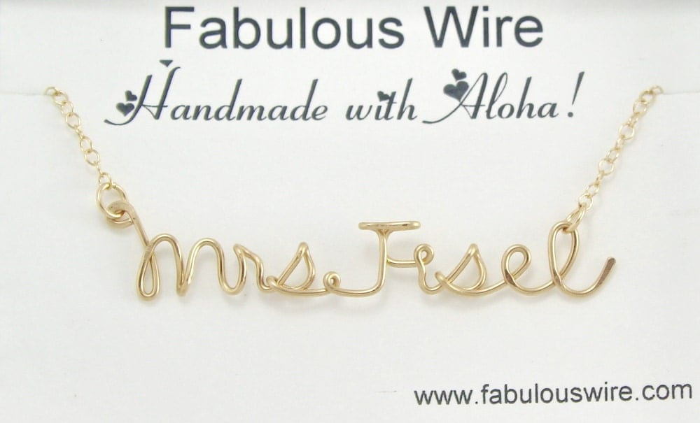 Mrs. Wire Name necklace
