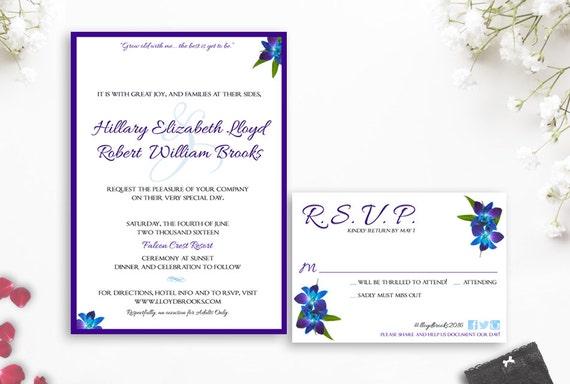 items similar to dendrobium orchid wedding invitation