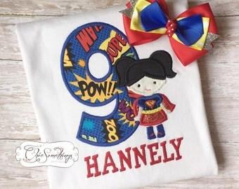 supergirl shirt, super girl shirt, super girl birthday, super hero birthday, super women, wonder women, super boy shirt, super girl bow