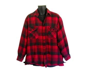 Red Flannel Shirt 90s Grunge Flannel Shirt Men Flannel Shirt Men XL Shirt Plaid Flannel Shirt Lumberjack Flannel Men Cotton Lumbersexual