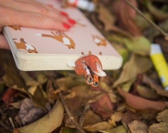 Fox butt bookmark. Funny gift. Fox in book. Animal bookmark.