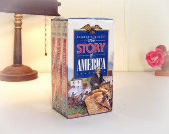 Reader's Digest  ** The Story Of America **  3 Tape (VHS) Box Set Sealed Never Opened **  1996 release, History of the Nation.
