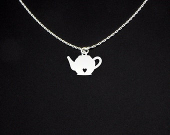 Teapot Necklace - Sterling Silver