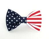 Patriotic Flag dog bow tie, cat bow tie