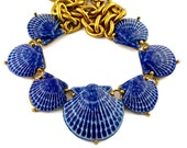 Reserved - Vintage KENZO Ceramic Shell Necklace