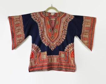 Dashiki Shirt Tribal Hippie Boho Bohemian Festival Unisex