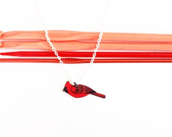 Cardinal Necklace | Songbird | Wearable Art | Gift Under 25