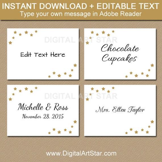 EDITABLE Wedding Labels Printable Christmas Food Labels Elegant