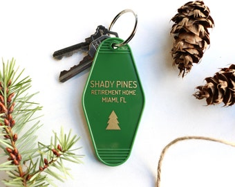 Shady Pines Green Key Tag - Golden Girls Keychain