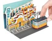 Lisbon Diorama Postcard Paper Craft
