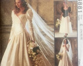Mccall's 6881 wedding dress bridal gown bridesmaid vintage 1994 size 20,  22, 24 bust 42 to 46 inches retro Alicyn Exclusive