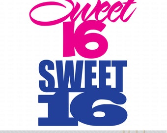 Sweet-16 Die Cut/Vector Files - Multiple File Formats