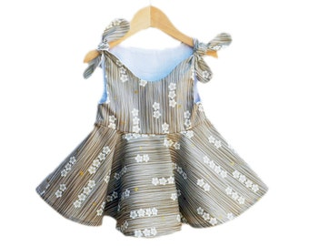 Japanese Cherry Blossoms Baby Dress - Toddler Girls - Shabbi Chic Style - Baby Clothing - Baby Shower - Birthday Gift - Custom Made USA