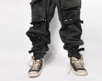 Mens Pants/ Mens Denim/ Vaporwave/ Cyber Ghetto/ Fubu/ Girbaud Jeans/ Grunge Pants/ Sad Boy/ Baggy Jeans/ Cross Colours/ Black Jeans/ Rave
