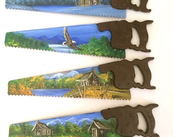 Miniature Hand Saw Magnet Mountain Scenery All 4 for One Price