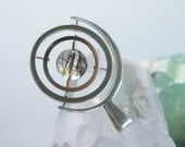the Satellite Gyroscope necklace - sterling silver and rutilated quartz