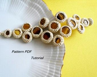 Crocheted bracelet.Tutorial. Pattern PDF. Instant download. Bracelet Pattern PDF