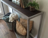 Console Table, Barnwood Console table, Rustic Modern blend