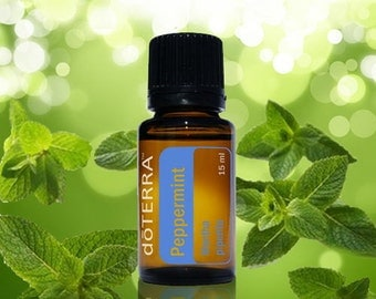 doTerra, Peppermint, Essential Oil Blend, 15mL bottle, Essential Oils, Therapeutic Oils, Spa, Skin Care, Fragrance