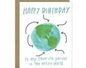 Happy Birthday Card / Best Friend Birthday Card / BFF Birthday Card / Birthday Card for Friend / Watercolor Birthday Cards
