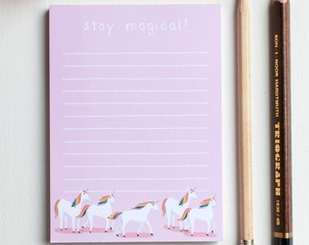 Unicorn Illustrated Notepad, Lined To-Do List