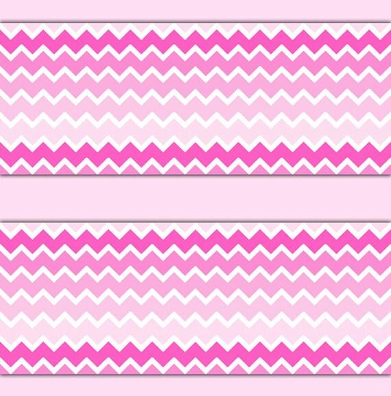 hot pink ombre chevron wallpaper border wall art decal girl