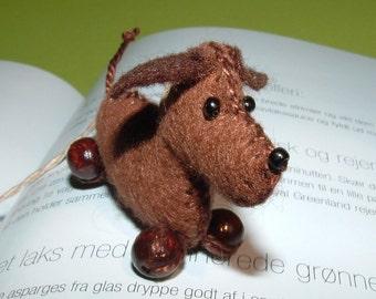 Bookmark dog Hans sausage handmade - bookmark - dog - dachshund-DART - felt