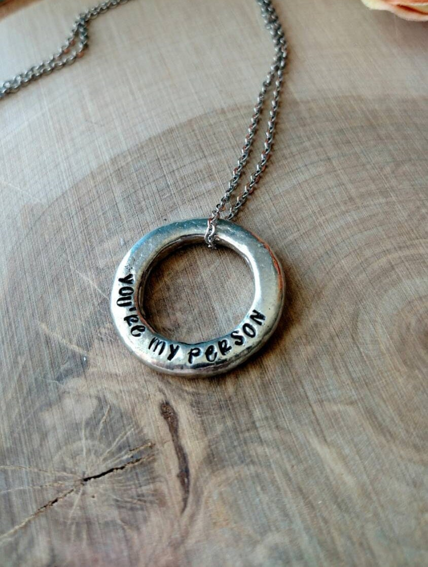 you re my person necklace best friend necklace