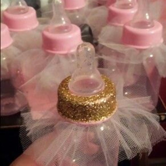 tutu baby shower favor bottles tiffany girls baby shower ballerina