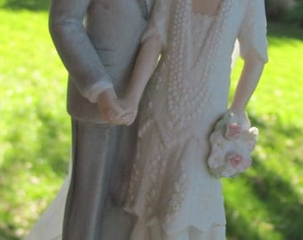 Vintage Wedding Cake Topper 1920s I Love You Truly Ideal for Art Deco Great Gatsby Weddings Cake Tops and or the Collector