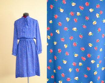 1970s Vintage Lady Carol Petites of New York Secretary Dress - size 16 (L XL) bust 42