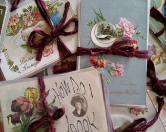 Doz. pcs Antique Victorian Post Card Bundle   Paper Ephemera Bundle   LIMITED SUPPLY