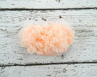 Peach Diaper Cover / Peach Ruffle Bloomers / Baby Chiffon Bloomers / Diaper cover / Baby Photo Prop / Peach Ruffle Bum Baby Bloomer/ Newborn